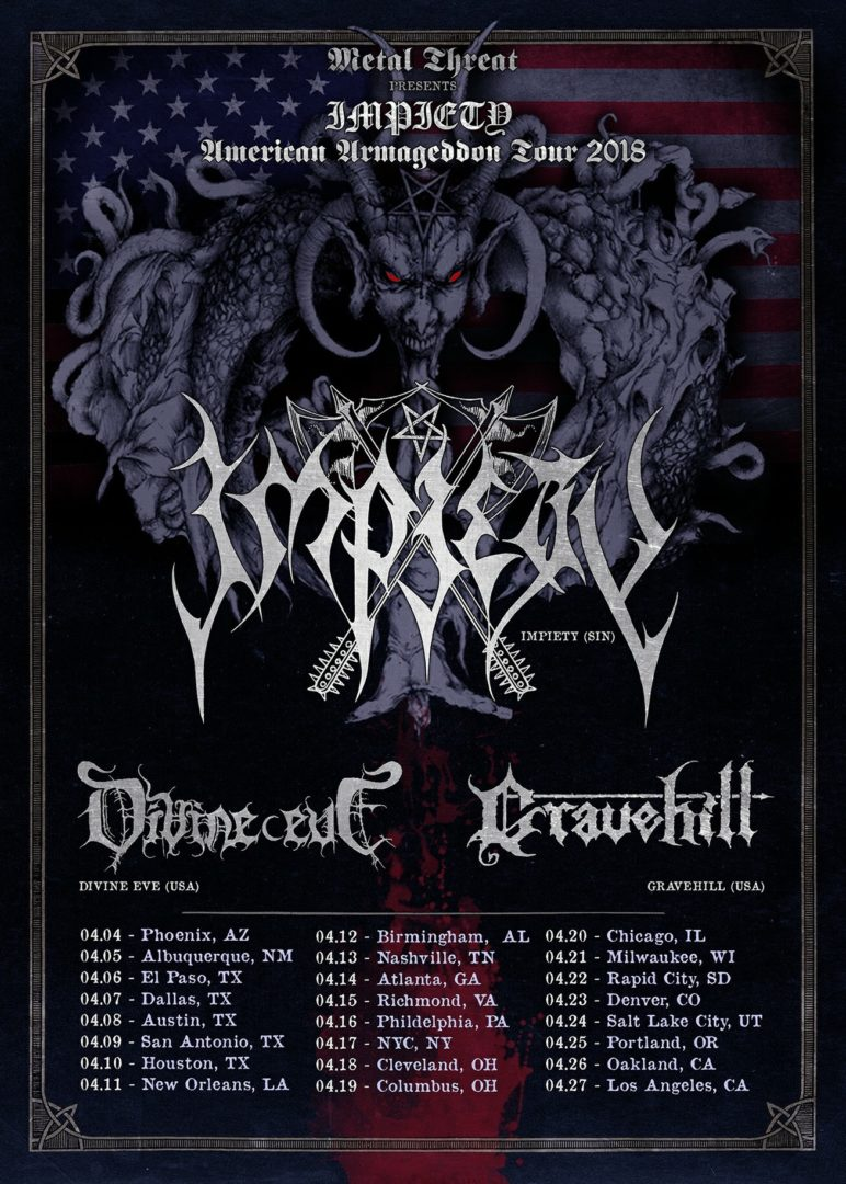 Impiety - American Armageddon Tour 2018